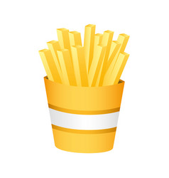 Fries french fast food vector