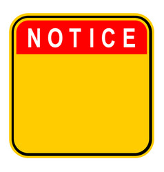 sticker notice safety sign vector image