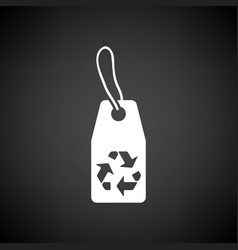 Tag and recycle sign icon vector