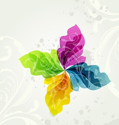 Multicolor transparent floral background vector
