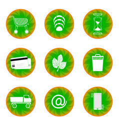 Web button for website green with white vector