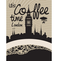 coffee london vector image