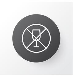 No drinking icon symbol premium quality isolated vector