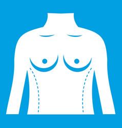 Plastic surgery of torso icon white vector