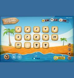 Desert island game user interface design for vector