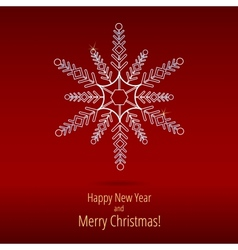 Christmas snowflakes new year card vector