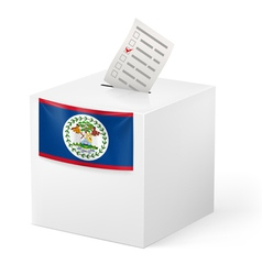 Ballot box with voting paper Belize vector image