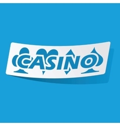 Casino sticker vector