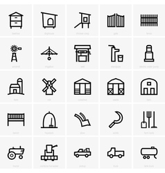 Farm icons vector