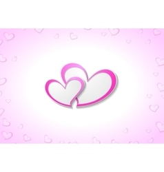 Pink hearts valentine day background vector
