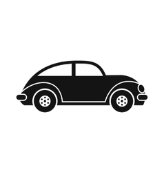Car icon black image vector image