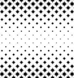 Seamless monochrome star pattern vector