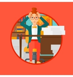 Despair woman espair sitting in office vector image