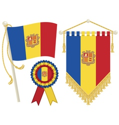 Andorra flags vector