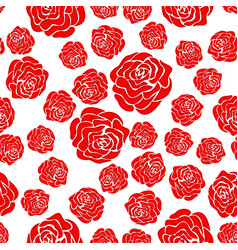 abstract rose seamless pattern vector image vector image