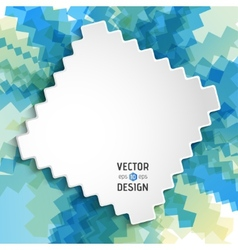 Abstract white text design box on zigzag line vector