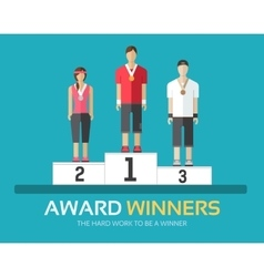 Award winners in flat design background concept vector