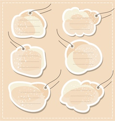 blank tags set vector image