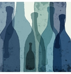 Blue bottles vector