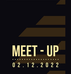 Brown background meet up card geometric cover vector