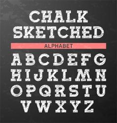 Chalk sketched font vector