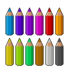 Colour pencils vector image vector image