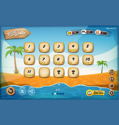 desert island game user interface design for vector image vector image