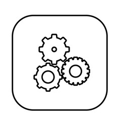 figure symbol gears icon vector image
