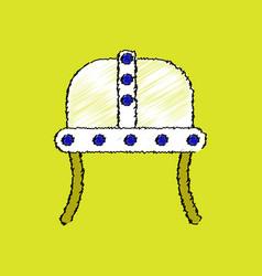 Flat shading style icon ancient helmet vector