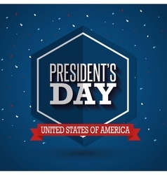 happy presidents day poster vector image vector image