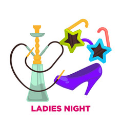 Ladies night party or dance music club vector