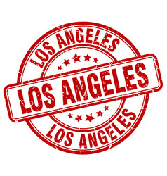 Los angeles stamp vector