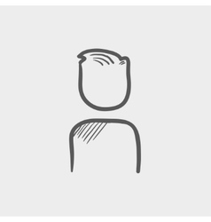 Man sketch icon vector image vector image
