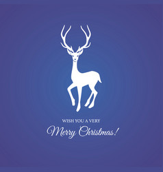 merry christmas and festive deer vector image vector image