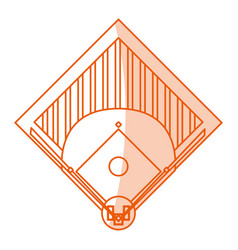 Monocromatic baseball field design vector