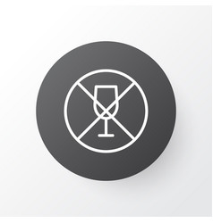 no drinking icon symbol premium quality isolated vector image