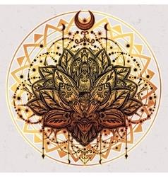 ornamental Lotus flower vector image vector image