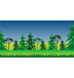 Panorama wood and glade summer vector