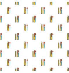 Pens pencil pattern seamless vector