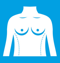 Plastic surgery of torso icon white vector