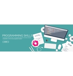 Programmingcoding flat computing background vector