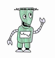 Robot sketch doodle vector