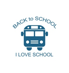 School Bus Isolated vector image vector image