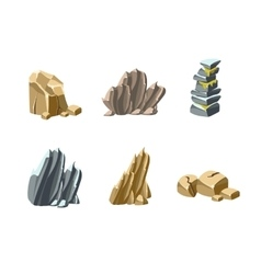 Stones and rocks textures vector