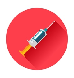syringe icon vector image vector image