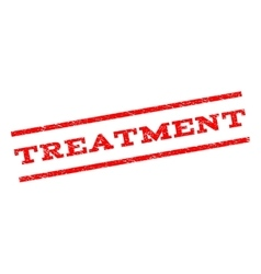 Treatment Watermark Stamp vector image vector image