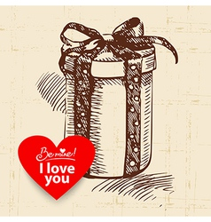 Valentines Day vintage background vector image vector image