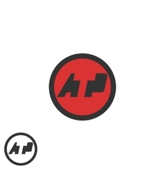 Initials ATP logo negative space A T P letters vector image