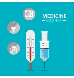 Medicine tools icon vector