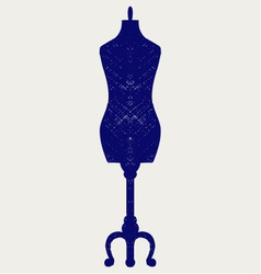 Tailors mannequin vector image